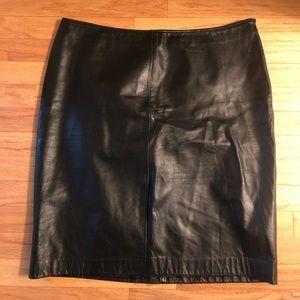 Nine West Black Leather Skirt Size 16